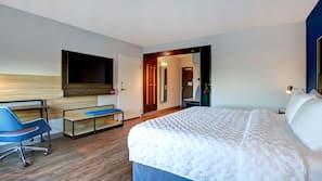 Down comforters, pillowtop beds, desk, laptop workspace