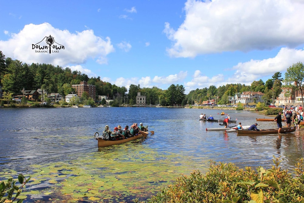 Lake, In the Heart of Saranac Lake! Quick Stroll Along Lake Flower to Main St!