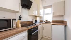 Fridge, microwave, oven, toaster
