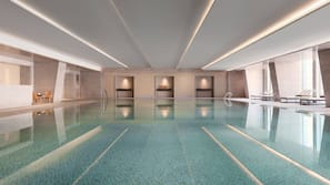 Indoor pool, open 6:30 AM to 11:00 PM, sun loungers, lifeguards on site