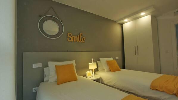 3 sovrum, gratis wi-fi och sängkläder