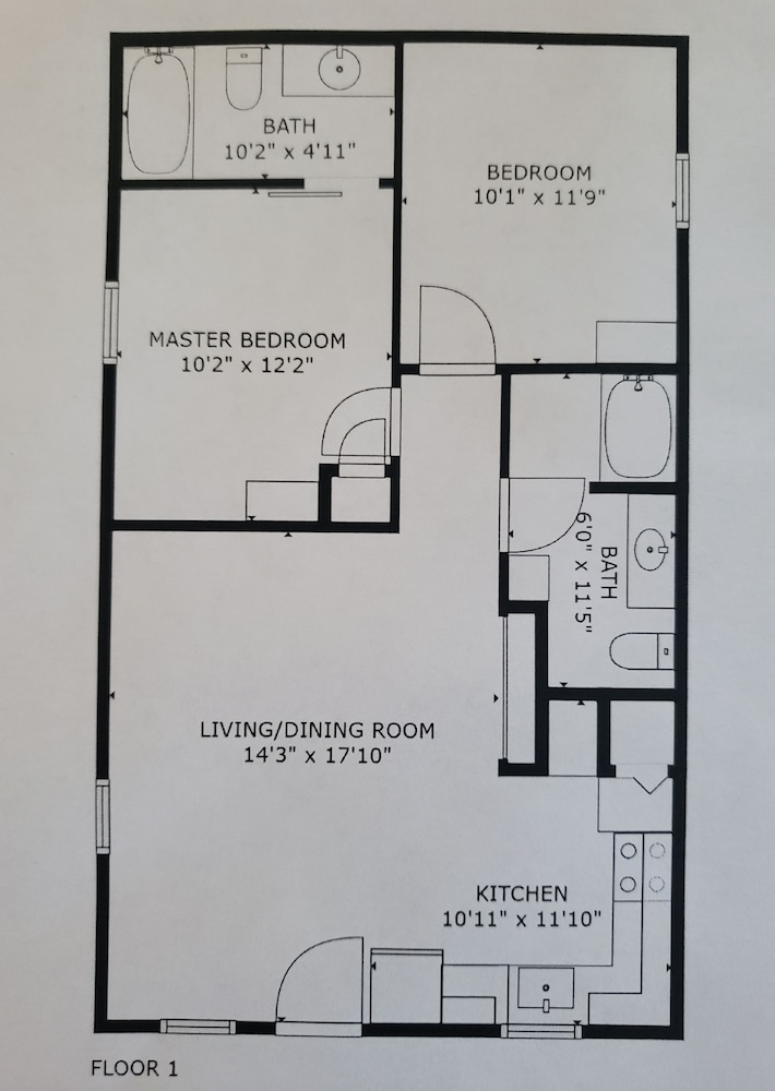 Floor plan, Rock Creek Cabin With Direct Access to Quachita National Forest and WPG
