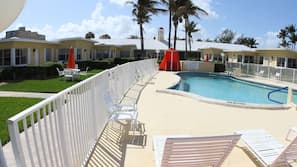 Outdoor pool, open 6:00 AM to 7:30 PM, free cabanas, pool umbrellas
