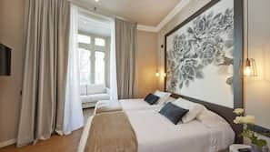 Select Comfort beds, in-room safe, free WiFi, linens
