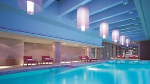 Indoor pool, free cabanas
