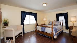 Egyptian cotton sheets, memory foam beds, blackout drapes, free WiFi