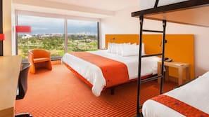 1 slaapkamer, een kluis op de kamer, individueel gemeubileerd