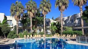 Indoor pool, 2 outdoor pools, pool umbrellas, sun loungers