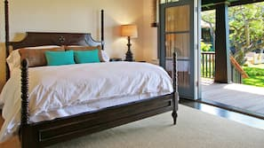 Premium bedding, down comforters, pillowtop beds, in-room safe