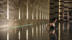 Indoor pool, free pool cabanas