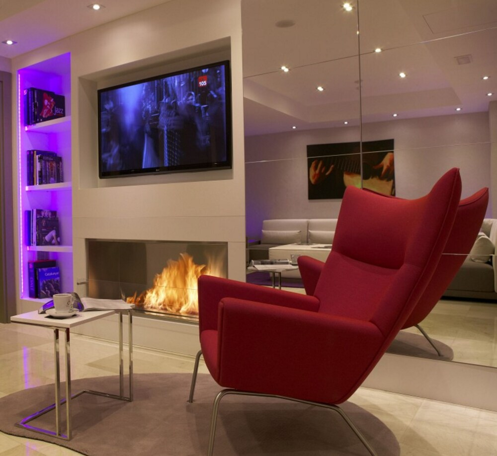 Fireplace, Musik Boutique Hotel