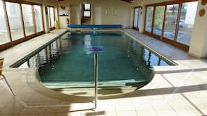 Indoor pool, pool loungers