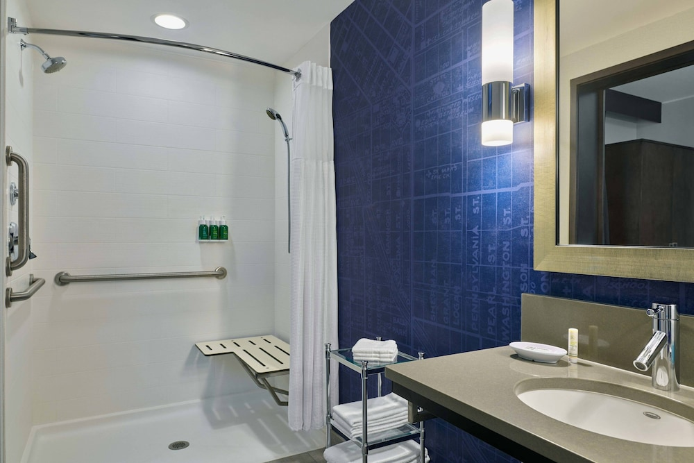 Bathroom, SpringHill Suites by Marriott Denver Downtown