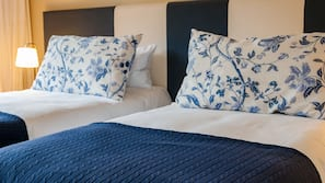 Egyptian cotton sheets, down comforters, pillowtop beds, in-room safe