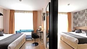 Minibar, coffres-forts dans les chambres, ameublement personnalisé