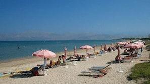 Beach nearby, sun-loungers, beach umbrellas, beach massages