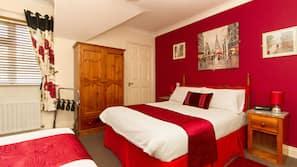 Individually decorated, individually furnished, desk, iron/ironing board