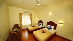 Egyptian cotton sheets, pillow top beds, minibar, desk