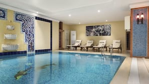 Indoor pool, open 10 AM to 10 PM, free pool cabanas, pool loungers