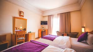 Luxe beddengoed, een kluis op de kamer, geluiddichte muren, gratis wifi