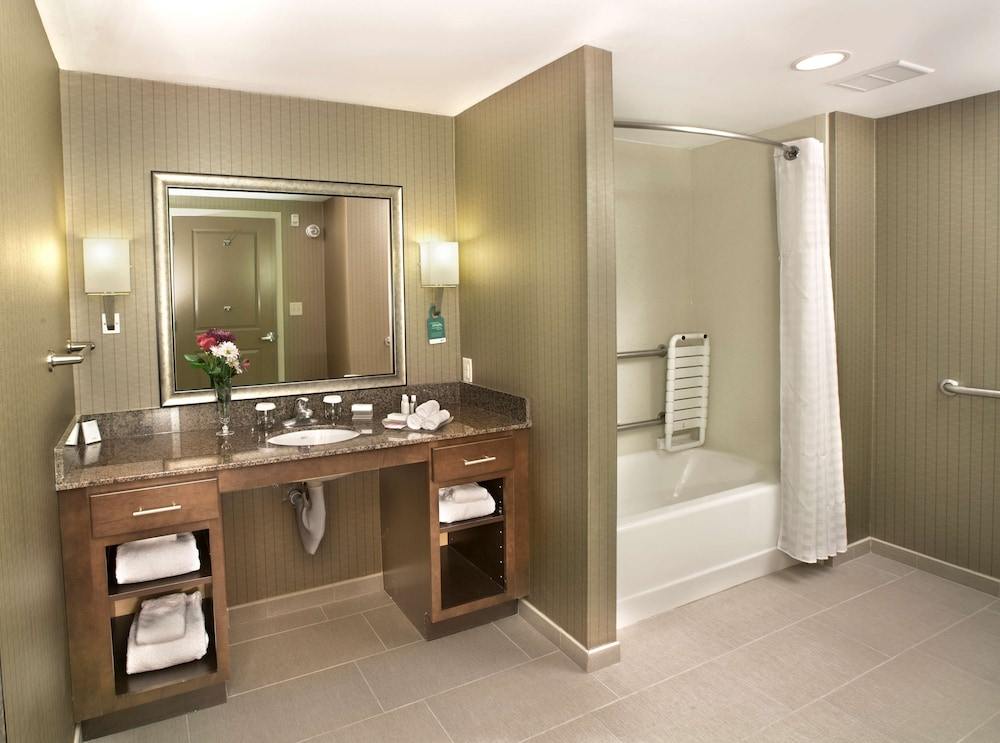 Bathroom, Homewood Suites by Hilton Newport Middletown, RI