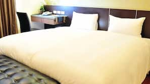 Down comforters, free minibar, individually furnished, desk