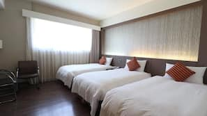 Hypo-allergenic bedding, down comforters, pillowtop beds, minibar