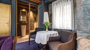 5 bedrooms, down duvets, memory-foam beds, minibar