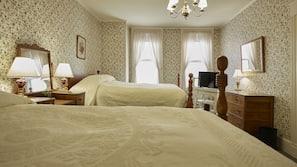 Frette Italian sheets, hypo-allergenic bedding, desk, iron/ironing board