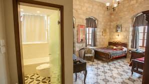 Egyptian cotton sheets, premium bedding, down duvet, in-room safe