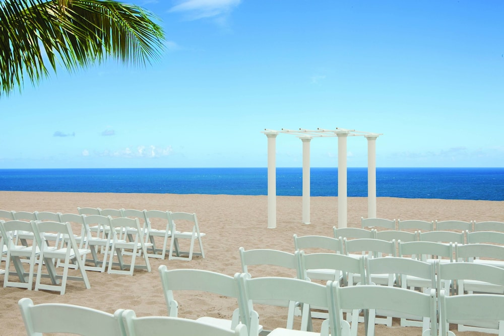 Outdoor Wedding Area, Fort Lauderdale Marriott Pompano Beach Resort and Spa