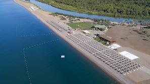 Private beach, free beach shuttle, beach cabanas, sun-loungers