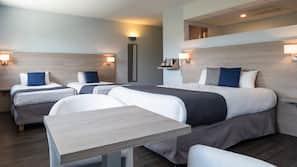Desk, soundproofing, bed sheets