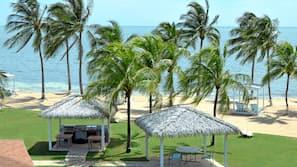Plage à proximité, sable blanc, navette gratuite vers la plage