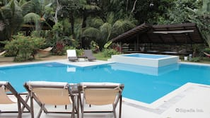 Outdoor pool, open 8:00 AM to 9:00 PM, free cabanas, sun loungers
