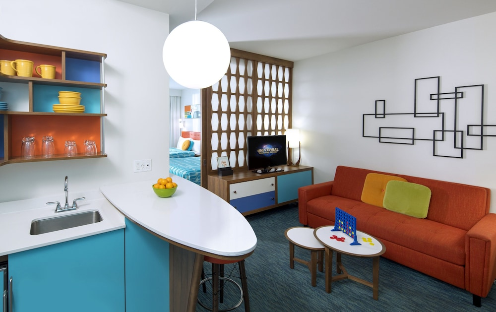 Living Area, Universal's Cabana Bay Beach Resort