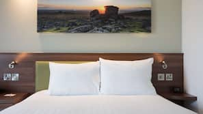 In-room safe, blackout curtains, soundproofing, free cots/infant beds
