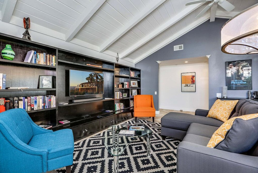 Living Room, Trendy, Family-friendly Condo w/ Shared Pool, Private Firepit, and gas Grill!