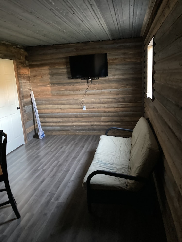 Living Room, 2 Bedroom Cabin Close to Pomme de Terre Lake