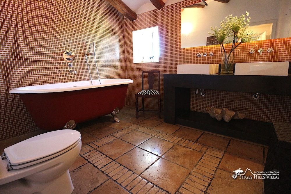 Bathroom, Amazing Masia Cal Saumell With Private Pool