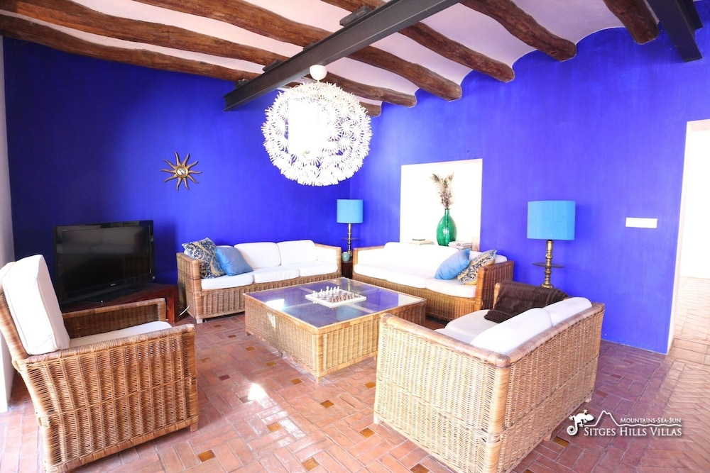 Living Room, Amazing Masia Cal Saumell With Private Pool