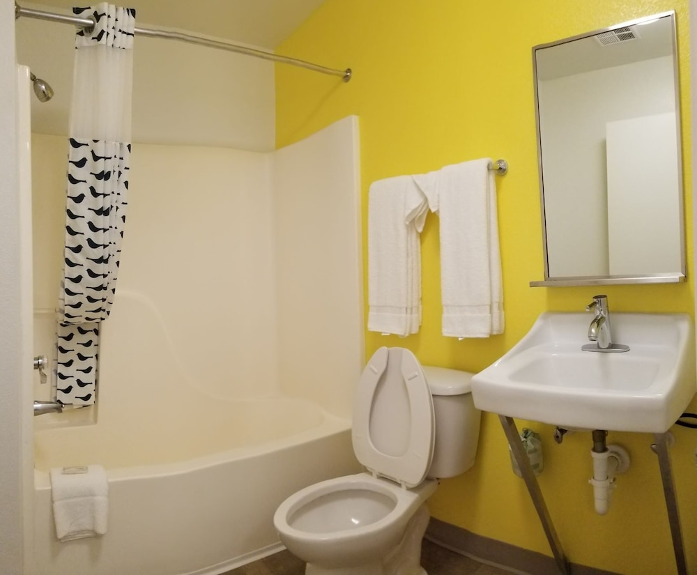 Bathroom, InTown Suites Extended Stay Louisville KY - Preston Hwy