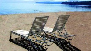 Praia particular, areia branca