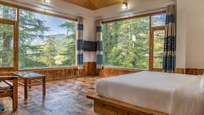 Premium bedding, pillowtop beds, laptop workspace, free WiFi