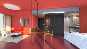 고급 침구, 오리/거위털 이불, 객실 내 금고, 각각 다른 스타일의 객실