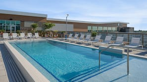 Outdoor pool, open 8:00 AM to 10:30 PM, sun loungers