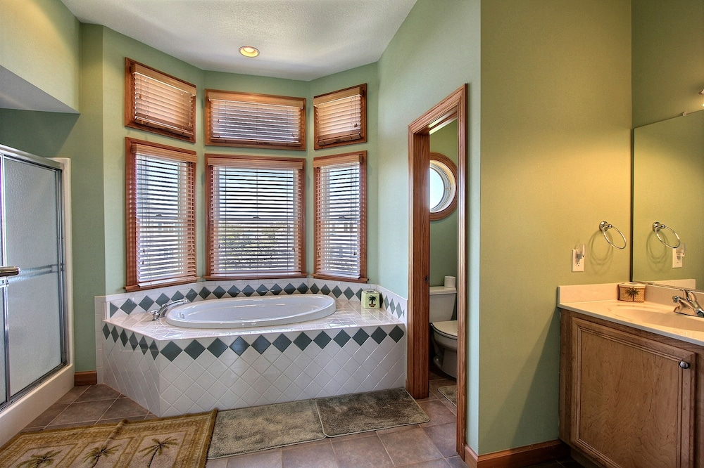 Bathroom, Expansive Home With Private Pool and Hot Tub, High-speed Wifi, and Central AC