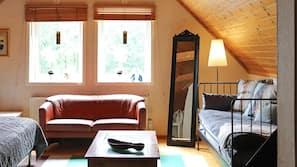 2 sovrum och unika möbler
