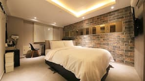 1 ห้องนอน, มินิบาร์, บริการ WiFi ฟรี, ผ้าปูที่นอน