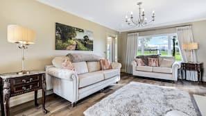 Smart TV, fireplace